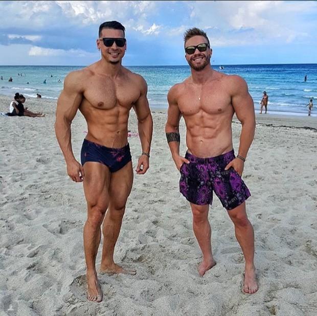 Felipe Franco e amigo (Foto: Reprodução / Instagram)