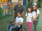 Alunos do ensino básico do DF criam cadeira de rodas movida pelo rosto