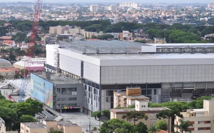 Teto retrátil Atlético-PR Arena da Baixada (Foto: Marco Oliveira/ Site oficial Atlético-PR)