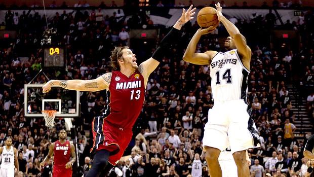 Gary Neal NBA final San Atonio Miami jogo 3 (Foto: Getty Images)