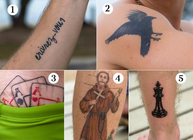 As tatuagens de Pedro Malta (Foto: Fábio Cordeiro)
