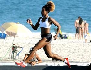 atletas treino praia Copacabana (Foto: Alexandre Durão / Globoesporte.com)