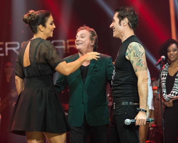 Ivete Fábio Jr. Dinho ensaio musical (Foto: Camila Serejo/TV Globo)