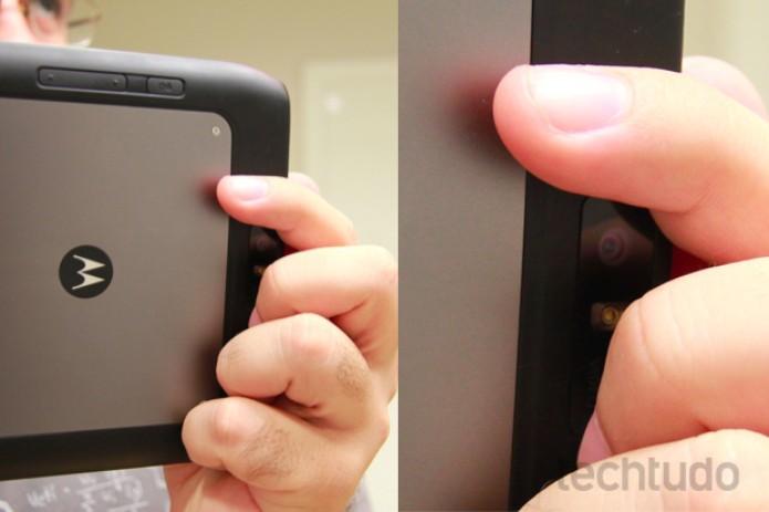 Detalhe da câmera no Motorola Xoom 2 Media Edition (Foto: Rodrigo Bastos/TechTudo)