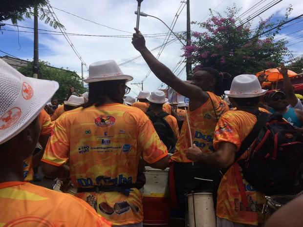 Blocos sem corda desfilaram pelas ruas do bairro (Foto: Rafael Teles / G1)