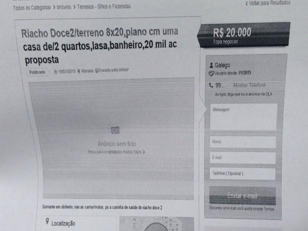 Suspeito divulgava anúncios na internet (Foto: Polícia Civil/Divulgação)