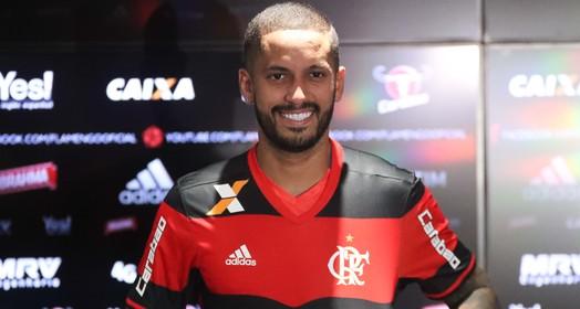 Ex-Vasco, Romulo revela que pai é flamenguista e se emociona (Gilvan de Souza/Flamengo)