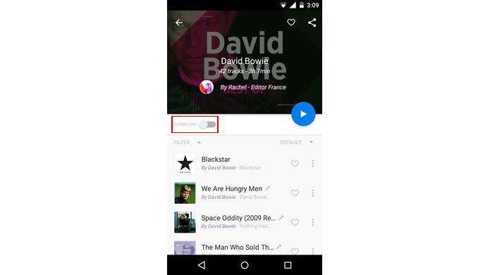 Aplicativo permite baixar músicas para ouvir offline (Foto: Reprodução/Deezer)