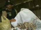 Polícia apreende uma tonelada de material para fabricação de fogos