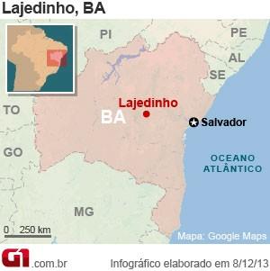 Lajedinho (Foto: Editoria de Arte/G1)