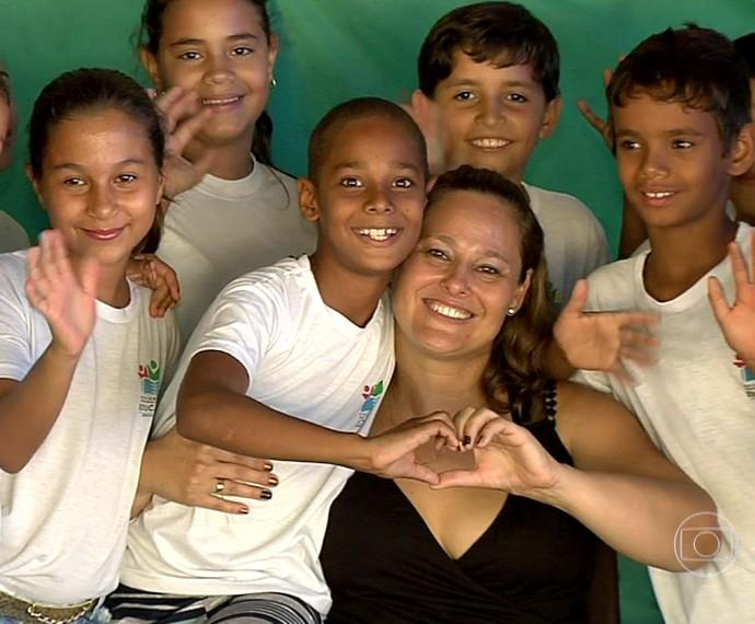 Cristiane e o filho Otávio  (Foto: TV Globo)