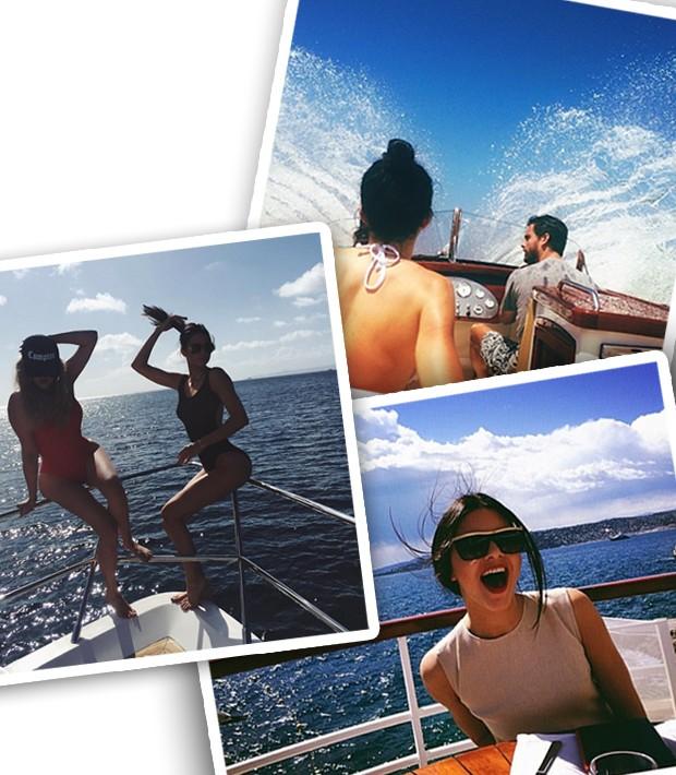 Com Kourtney Kardashian e Scott Discick al mare (Foto: Instagram/Reprodução)
