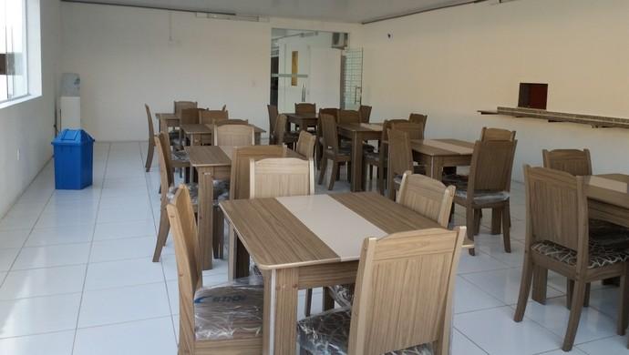 Refeitório do Mutange terá ar-condicionado (Foto: Augusto Oliveira/GloboEsporte.com)