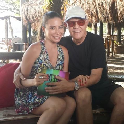 Marcela Monteiro e Ney Latorraca (Foto: Divulgação)