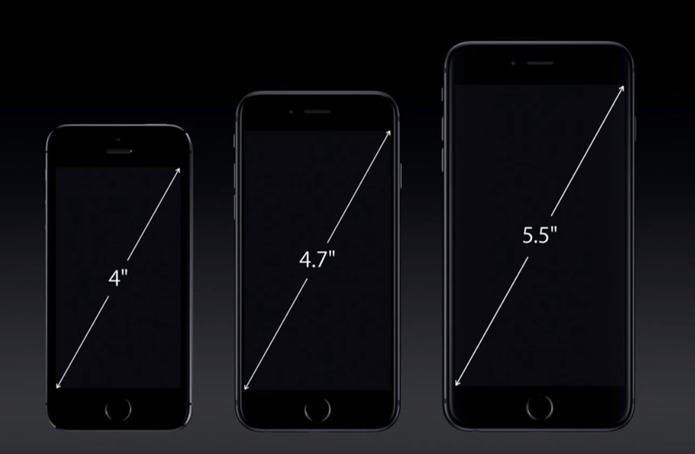 Tamanho de tela em smartphones é medido em polegada e na diagonal (Foto: Reprodução/Apple)