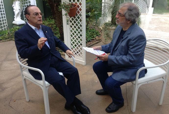 Paulo Maluf durante entrevista para Geneton Moraes Neto