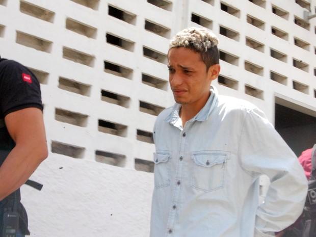 Bruno Franklin Sousa Santos foi preso e reconhecido por duas testemunhas (Foto: Artur Lira/G1)