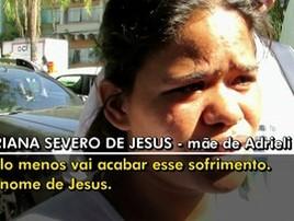 Mãe se diz aliviada após achado de corpo de filha de 3 anos (Reprodução/TV Globo)