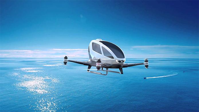 Drones mais avançados precisam de autorização para voar (Foto: Divulgação/EHang)