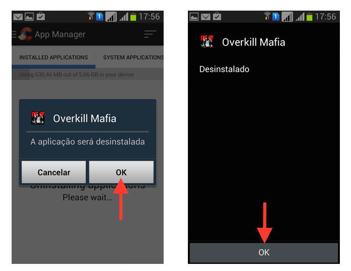 Finalizando a desinstalação de um aplicativo através do CCleaner no Android (Foto: Reprodução/Marvin Costa)