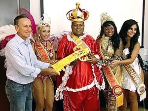 Chave Carnaval Uberaba (Foto: Reprodução/TV Integração)