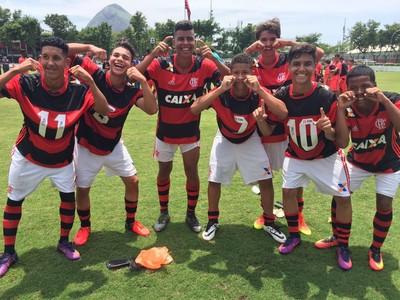 Flamengo sub-15, final, Gávea (Foto: Felippe Costa/GloboEsporte.com)