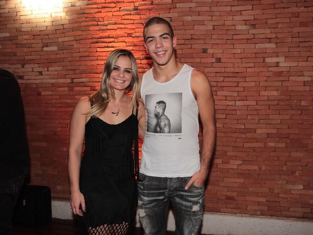 Milene Domingues e Ronald em festa em São Paulo (Foto: Celso Tavares/ EGO)