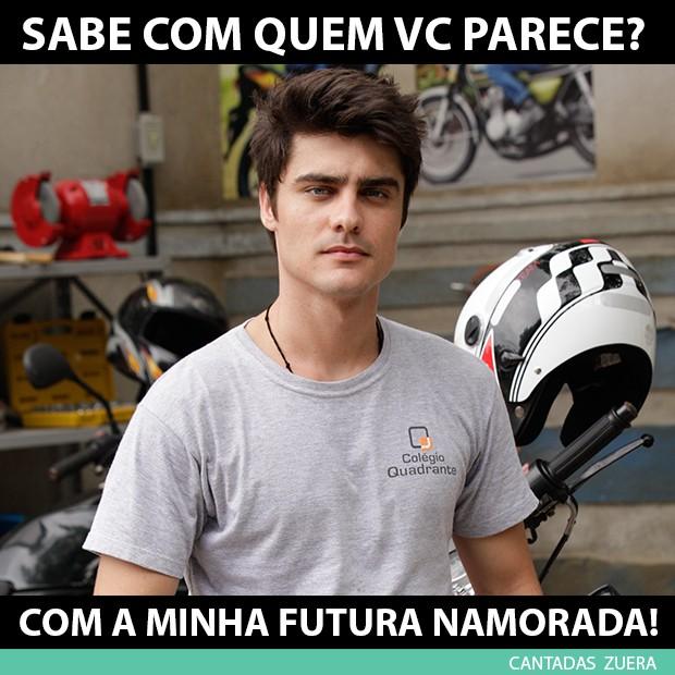 Cantada muito tensa do Vitor (Foto: Malhação / TV Globo)