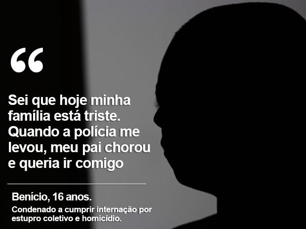 Adolescente condenado de participação em estupro coletivo em Castelo do Piauí (Foto: Fernando Brito/G1)