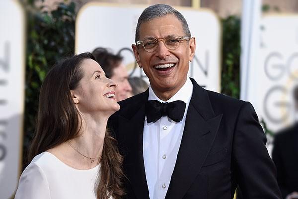 Jeff Goldblum e Emilie Livingstone (Foto: Getty Images)