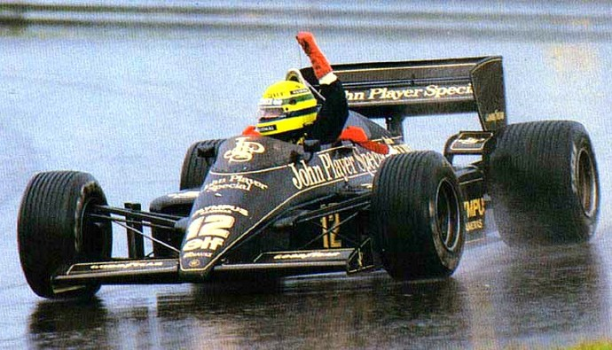 Ayrton Senna Lotus GP de Portugal de 1985 (Foto: Divulgação/Lotus)