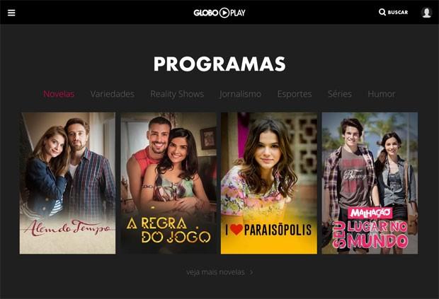 Globo Play é uma plataforma da Globo para assistir TV online (Foto: Reprodução/Globo Play)