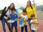De férias, crianças tomam conta do Parque Olímpico