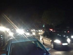 Trânsito na avenida João XXIII, Zona Leste, é lento  (Foto: Reprodução/TV Clube)