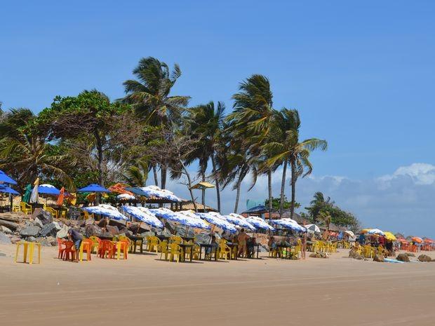 Praia dos Artistas em Aracaju, em Sergipe (Foto: Marina Fontenele/G1)