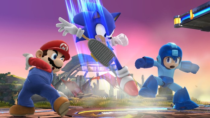 Sonic em Super Smash Bros (Foto: Divulgação/Nintendo)
