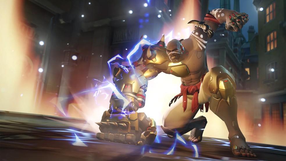 Força de Doomfist está na manopla gigante que ele carrega no braço direito (Foto: Divulgação)
