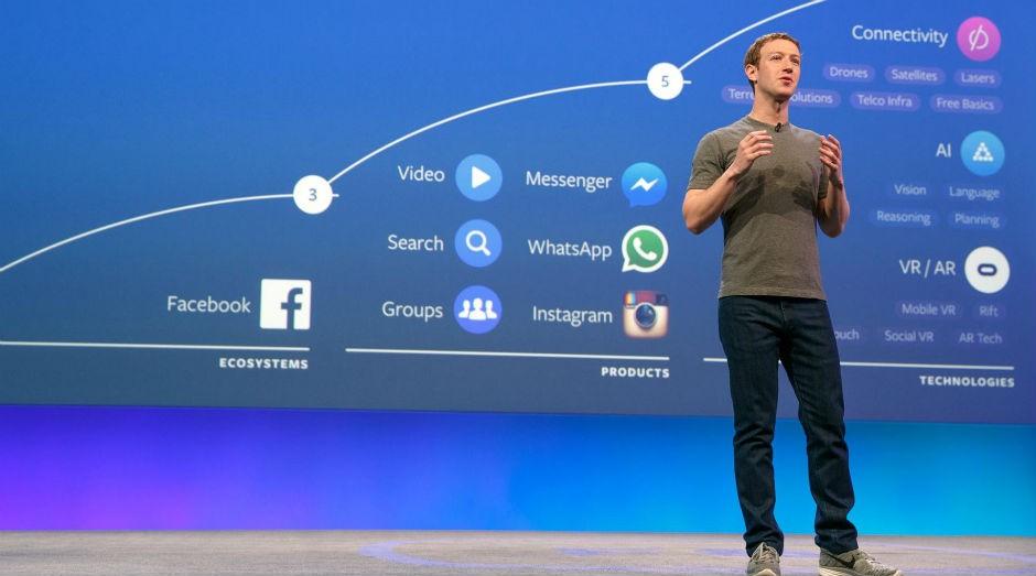 Mark Zuckerberg, durante anúncio dos resultados da empresa, em 2016 (Foto: Divulgação/Facebook)