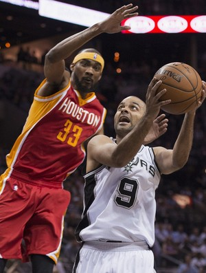 Tony Parker Spurs x Rockets NBA - AP (Foto: AP)