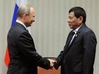 Presidente das Filipinas se encontra com Putin