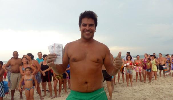 """Fábio Garcia ganhou a segunda rodada e comemorou: """"Estava louco para ir ao show!"""" (Foto: Divulgação/ RPC)"""