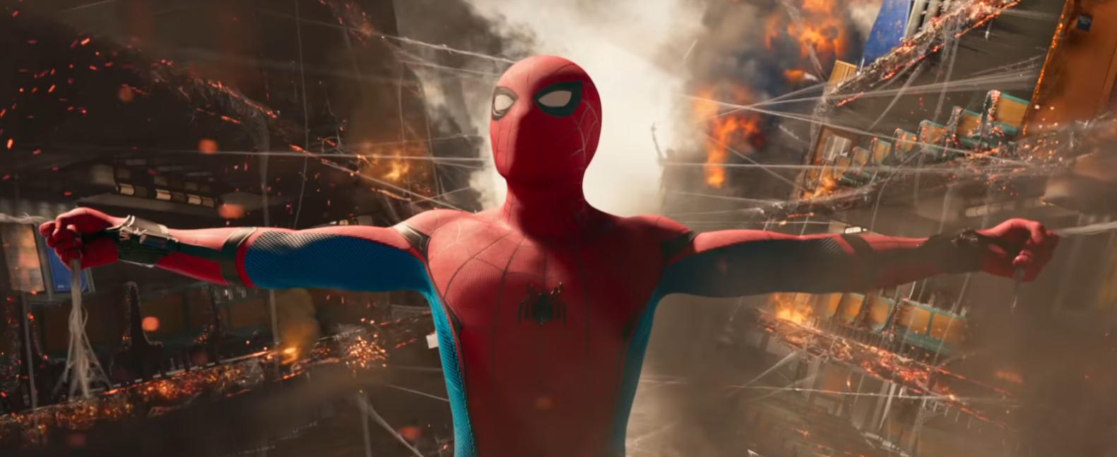 Cena de trailer do filme 'Homen-Aranha: De Volta ao Lar' (Foto: Reprodução/Youtube)