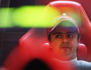 Felipe Massa nos boxes da Ferrari no fim de semana do GP da Itália (Foto: Getty Images)