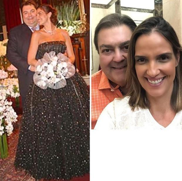 Resultado de imagem para Faustão e sua Mulher Luciana Cardoso comemoram 15 anos de casamento.