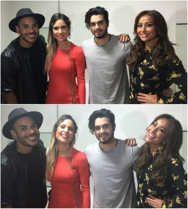O blogueiro Hugo Gloss, Thyane Dantas, Luan Santana e Sabrina Sato (Foto: Reprodução/Snapchat)