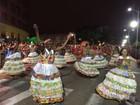 Desfile em Joinville tem flores, perna de pau, circo e até história do JEC