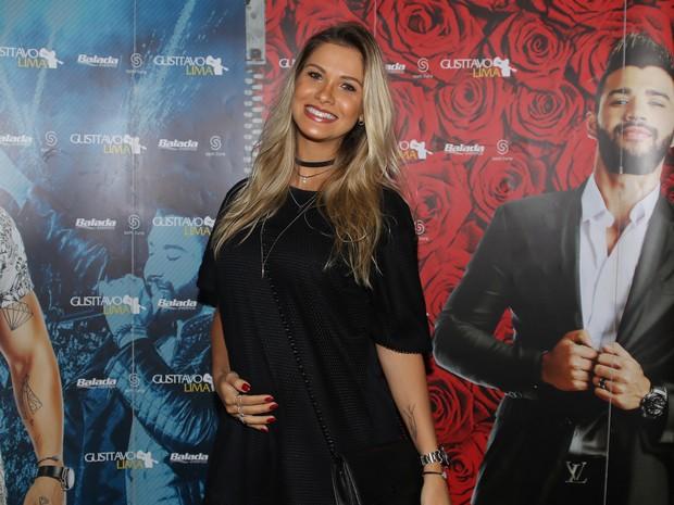 Andressa Suita em bastidores de show em São Paulo (Foto: Thiago Duran/ Ag. News)