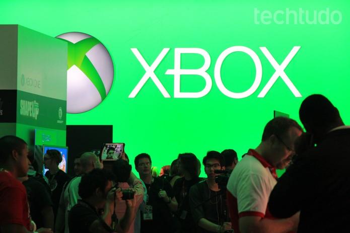A Microsoft marcou presença com o Xbox One na E3 2014 (Foto: Isadora Díaz/ TechTudo)