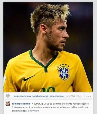 Luciano Camargo lamenta a saída de Neymar na Copa (Foto: Reprodução/ Instagram)