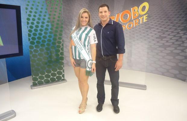 Rede Globo Rpctv Musa Do Coritiba Visitou O Globo
